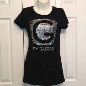 Guess G by Guess black silver embellished T-shirt